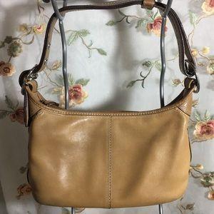✨COACH Tan Leather Shoulder Bag F13354